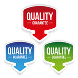 Quality Guarantee label vector. Set Stock Illustration