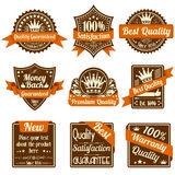 Quality and Guarantee Labels Stock Images