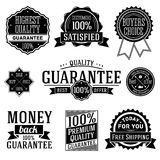 Quality Guarantee labels. Vector set Royalty Free Stock Images