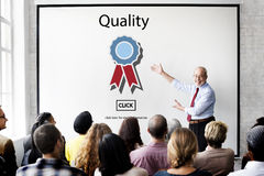 Quality Guarantee Level Service Best Class Value Concept Stock Image
