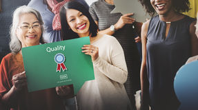 Quality Guarantee Level Service Best Class Value Concept Stock Photo