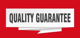 Quality guarantee. Sign.  paper origami speech bubble.  tag.  banner Stock Illustration