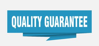 Quality guarantee. Sign.  paper origami speech bubble.  tag.  banner Vector Illustration