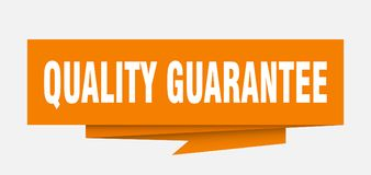 Quality guarantee. Sign.  paper origami speech bubble.  tag.  banner Royalty Free Illustration