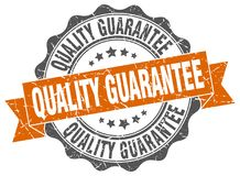 Quality guarantee seal. stamp. Quality guarantee round seal isolated on white background. quality guarantee stock illustration