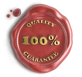 Quality guarantee seal wax Royalty Free Stock Photography