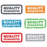 Quality guarantee sign icon. Certificate symbol Stock Images