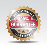 Quality guarantee stamp. Badge quality guarantee gold stamp Stock Image