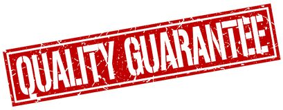 Quality guarantee stamp. Quality guarantee square grunge sign isolated on white.  quality guarantee Stock Illustration