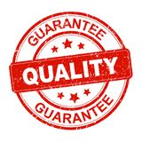 Quality guarantee stamp. Sign icon - editable vector illustration on isolated white background royalty free illustration