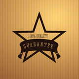 Quality guarantee star with ribbon. Vector Stock Image