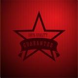 Quality guarantee star with ribbon. Vector Royalty Free Stock Photos