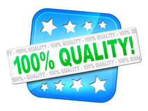 Quality guarantee. A quality guarantee symbol for your website Royalty Free Stock Photo