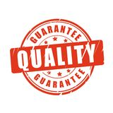Quality guarantee vector stamp Royalty Free Stock Photos