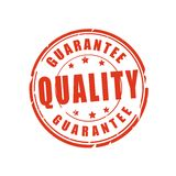 Quality guarantee vector stamp Royalty Free Stock Image