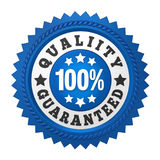 Quality Guaranteed Label Isolated. On white background. 3D render Stock Photos