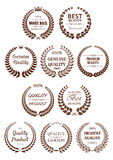 Quality guaranteed laurel wreaths symbols Stock Images