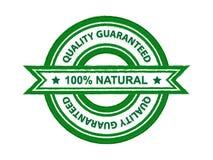 Quality guaranteed natural. Web badge stock illustration