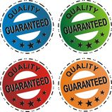 Quality Guaranteed Set. Of stickers for business Stock Illustration