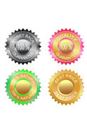 Quality guaranty and best price labels set Stock Photo