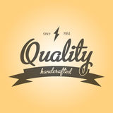 Quality Handcrafted Emblem Poster Royalty Free Stock Photography