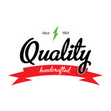 Quality Handcrafted Emblem Poster Royalty Free Stock Images