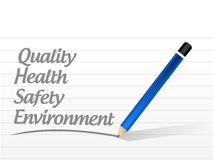 quality, health, safety and environment Stock Photos