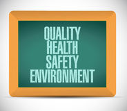 quality, health, safety and environment Stock Photography