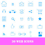 30 quality icons for web.  Stock Image