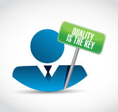 Quality is the key avatar sign concept Stock Photography