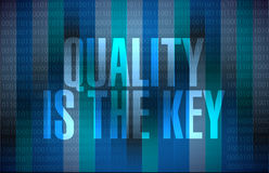 quality is the key binary sign concept Stock Photography