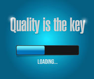 Quality is the key loading bar sign Royalty Free Stock Photography
