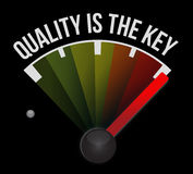 quality is the key sign concept Royalty Free Stock Photography