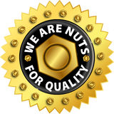 Quality label. Vector illustration of golden quality guarantee label Stock Images