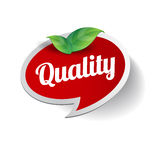 Quality label vector Stock Image