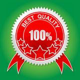 Quality label. On white - vector illustration Stock Photos