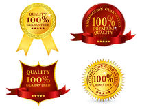 Quality labels Royalty Free Stock Image