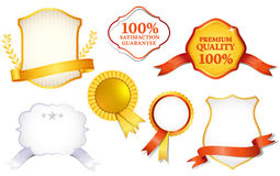 Quality labels. Collection of quality labels, illustration Royalty Free Stock Photography