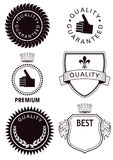 Quality labels Royalty Free Stock Photo