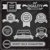 Quality labels chalkboard Royalty Free Stock Photography