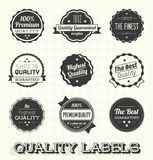 Quality Labels and Icons Stock Photo