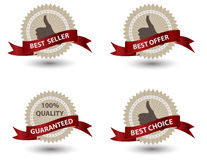 Quality Labels in retro vintage design Royalty Free Stock Images