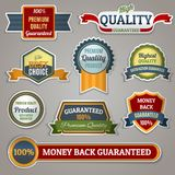 Quality labels stickers Royalty Free Stock Image