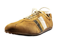 Quality leather casual moccasin shoe Stock Photography