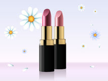 Quality Lipstick And Flower Stock Image