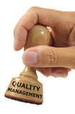 Quality management. Rubber stamp marked with quality management Royalty Free Stock Photos