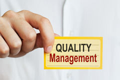 Quality Management card Royalty Free Stock Photography
