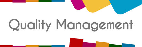 Quality Management Colorful Abstract Shapes Royalty Free Stock Photo