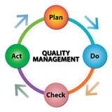 Quality management infographic vector illustration