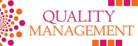Quality Management Pink Orange Dots Horizontal Royalty Free Stock Photo